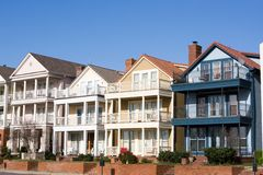 Townhouses da parte alta, console da lama, Memphis Imagem de Stock