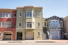 townhouses Francisco SAN στοκ εικόνες με δικαίωμα ελεύθερης χρήσης