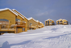 Townhouses after heavy snowstorm, Stock Photos