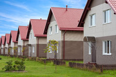 Townhouses with household lawns Royalty Free Stock Images