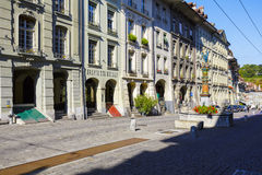 Townhouses at the most visited street in Bern Stock Photos