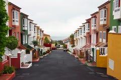 Townhouses na praia Fotos de Stock
