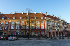 Townhouses of New Town Market in Warsaw Royalty Free Stock Images