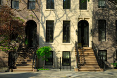 Townhouses in New York Stock Image