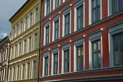 Townhouses in Oslo Stock Image
