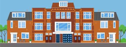 townhouses Plan stil Royaltyfri Fotografi