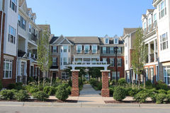 Townhouses in the Richmond suburbs Royalty Free Stock Image