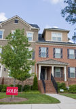 Townhouses Sold Royalty Free Stock Photos
