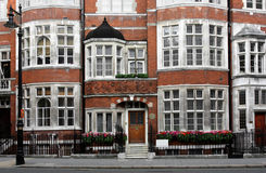 Townhouses velhos de Londres Foto de Stock
