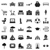 Townish icons set, simple style Stock Photography