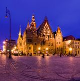 Townn Hall à Wroclaw Images stock