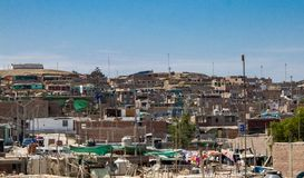 Towns Along the Road Heading South in Peru. Poor towns along the road heading south from Lima, Peru royalty free stock images