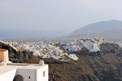 Towns av Santorini Royaltyfri Foto
