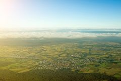 Towns and fields in Germany. Stock Photo