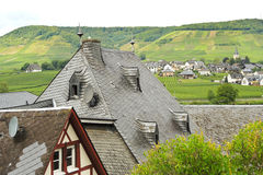 Towns on Moselle river, Germany Royalty Free Stock Photography