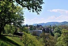 Townscape Берна, Швейцарии. Стоковые Изображения RF