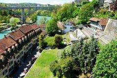 Townscape Берна, Швейцарии. Стоковые Фотографии RF
