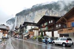 Townscape Интерлакена, Швейцарии Стоковые Изображения