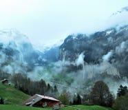 Townscape Интерлакена, Швейцарии Стоковые Фото
