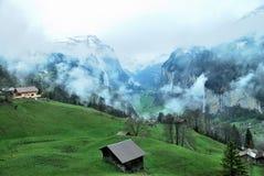 Townscape Интерлакена, Швейцарии Стоковое фото RF