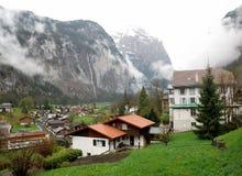Townscape Интерлакена, Швейцарии Стоковая Фотография