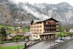 Townscape Интерлакена, Швейцарии Стоковая Фотография RF