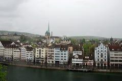 Townscape Цюриха, Швейцарии. Стоковое Фото
