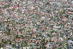 Townscape. Abstract composition of Overpopulated town Stock Photos