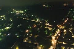 Townscape aéreo na noite foto de stock royalty free