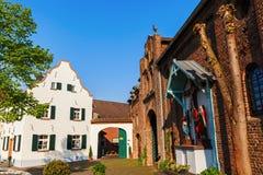 Townscape av Bedburg-Kaster, Tyskland Fotografering för Bildbyråer