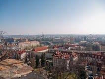 Townscape av Prague, Tjeckien Arkivfoton