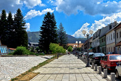 Townscape. Beautiful summer townscape in Montenegro stock photography