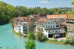 Townscape of the Berne city. Switzerland stock images