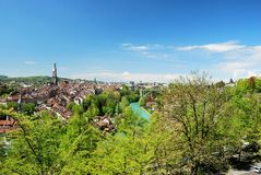 Townscape of the Berne city. Switzerland royalty free stock photo