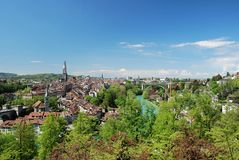 Townscape of Berne, Switzerland. Stock Images