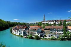 Townscape of Berne, Switzerland. Royalty Free Stock Photo