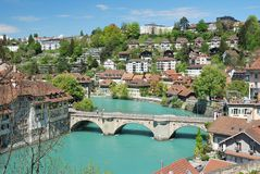 Townscape of Berne, Switzerland. Stock Image