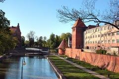 Townscape of Braniewo, Warmian-Masurian Voivodeship, Poland royalty free stock photos