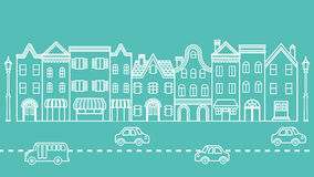 Townscape - Cars driving in the Street Royalty Free Stock Photos