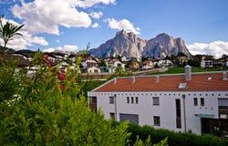 Townscape Castelrotto (Kastelruth) Stockfoto