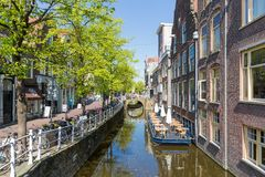 Townscape from the center of Delft, the Netherland Stock Image
