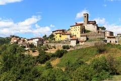 Townscape da vila Verni foto de stock