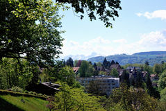 Townscape de Berna, Suiza. Imagenes de archivo