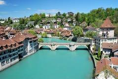 Townscape de Berna, Suiza. Fotografía de archivo