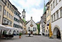 Townscape de Feldkirch Fotos de archivo libres de regalías