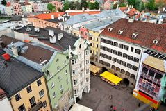 Townscape de Innsbruck Imagen de archivo libre de regalías