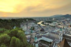 Townscape de Salzburg Foto de archivo libre de regalías