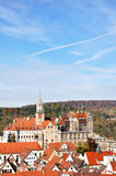 Townscape de Sigmaringen Foto de Stock Royalty Free