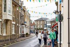 Townscape de Southwold, una ciudad popular de la playa en la Suffolk del condado del Reino Unido imagen de archivo libre de regalías