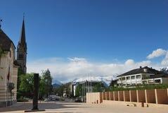 Townscape de Vaduz Fotografía de archivo libre de regalías